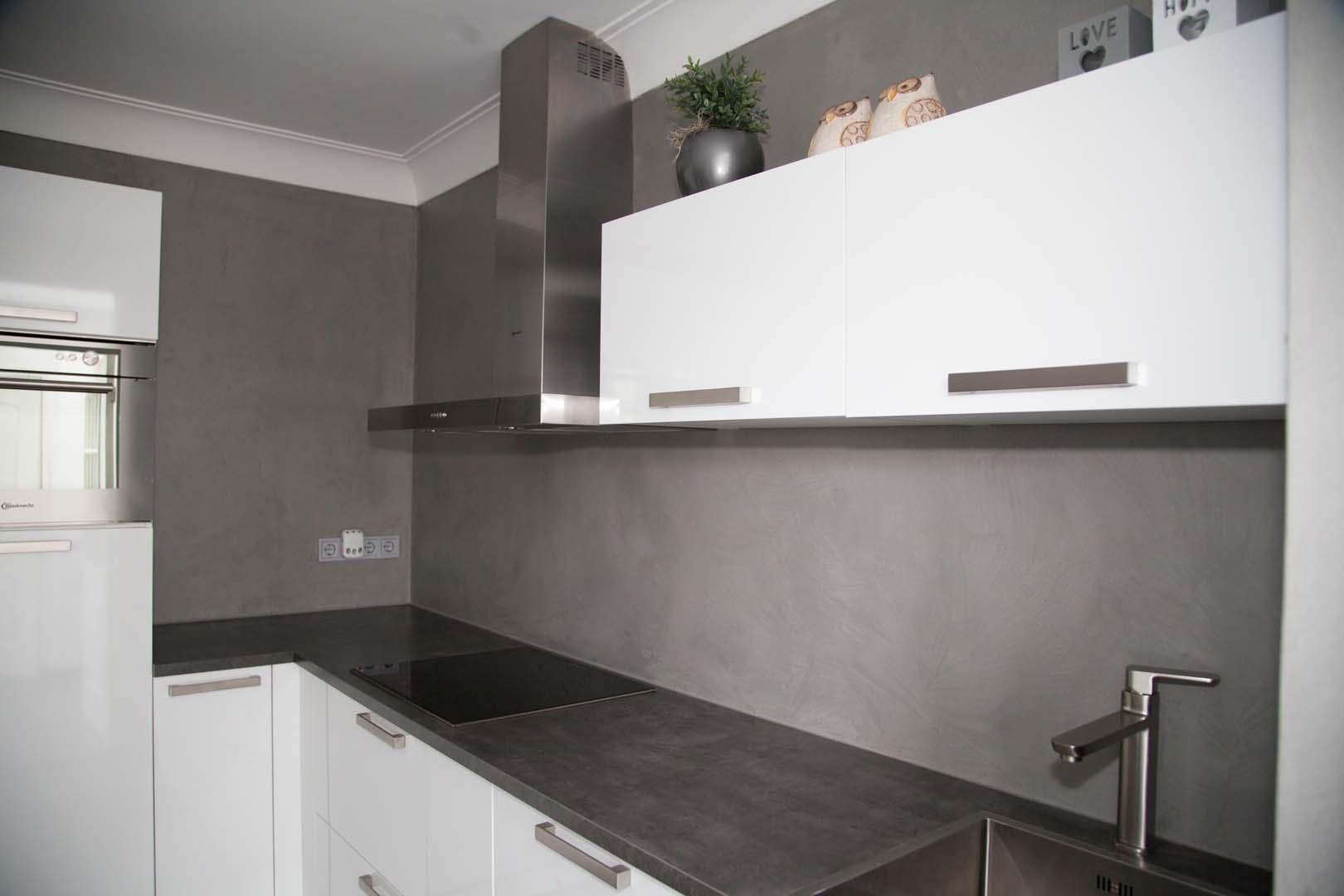 Van der looy achterwand keuken in betonlook - Eilandjes van keuken ...